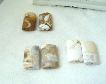 Set of six rectangle Jasper Beads - P227 Gemstones