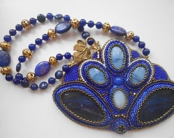 "Necklace""Blue Dreams"""