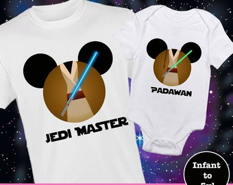 Star Wars Matching Shirt, Padawan Shirt, Jedi Master Shirt