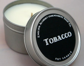 85g Soy Candle in a tin - Tobacco