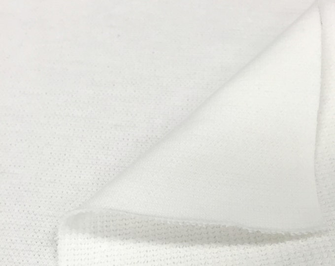 100% Cotton Flatback Thermal Knit Fabric By the Yard (Wholesale Price Available By the Bolt) USA Made Premium Quality - 7340B White - 1 Yard