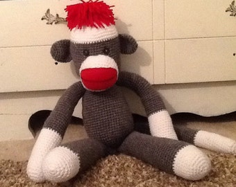 Grey white Monkey crocheted (awesome)