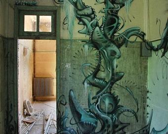 Disused hospital and graffiti art / Abandoned hospital and graffiti