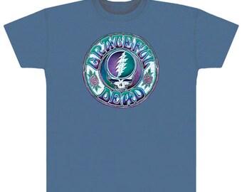 Grateful Dead T-Shirt -Batik SYF T-Shirt / Steal Your Face / Stealie/ 13 point lightning bolt/ Roses/