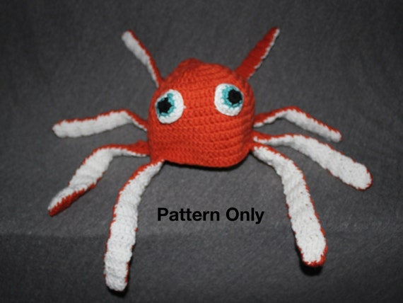 Octopus Crocheted Hat Octopus Hat Crochet Hat Pattern