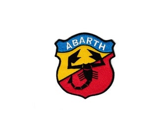 Abarth Vest Ferrari Scorpion Red Harley Davidson Hog Motorcycle Club Embroidered Sew Iron On Patches Patch Appliques Biker For Jackets