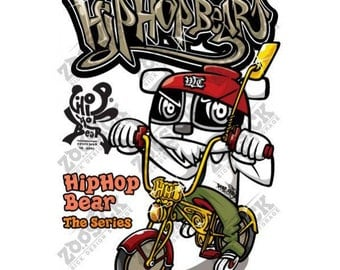 Cute Hip Hop Rap Teddy Harry Bear Devil Iron on Stickers Heat Transfer Paper Patches Skull Biker Motorcycle Funny Jdm Design T Shirt HHB01