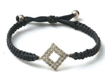 Black fabric strap