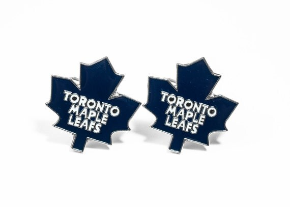 Toronto Maple Leafs Cuff Links -- FREE SHIPPING with USPS First Class Domestic Mail