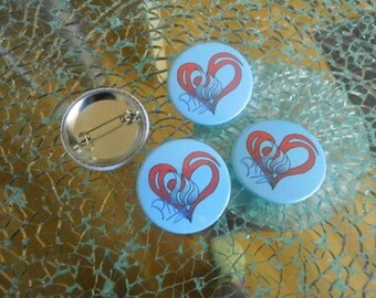 PanHaukatze fan button / badge