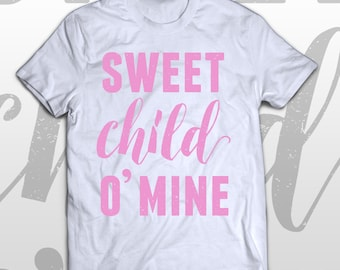 Guns N' Roses T-shirt - Sweet child O' mine -  kids graphic cotton tee - gift idea
