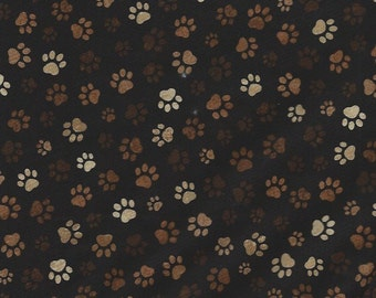Paw Prints Browns/Tans Timeless Treasures
