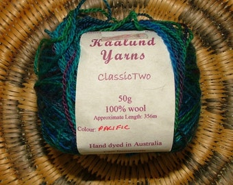 Kaalund Yarns Classic Two Hand Dyed Yarn Made in Australia Pacific Color Crochet Knit