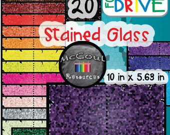 Stained Glass Digital Paper