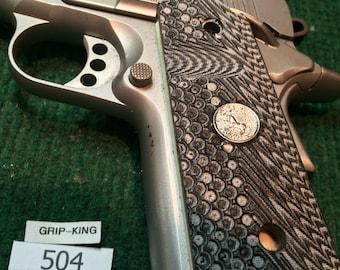 Colt 1911 compact grips,Officers model,Defender, G10 Micarta,weatherproof,non slip,military specs,Colt medallions,item #504