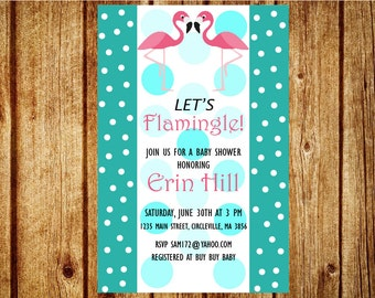 Flamingo Themed Party Invitation Printable