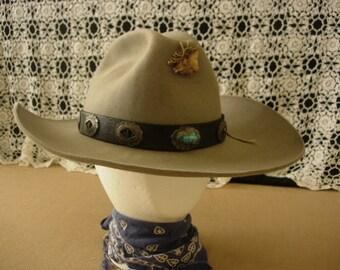 Cow Boy Hat Grey Felt