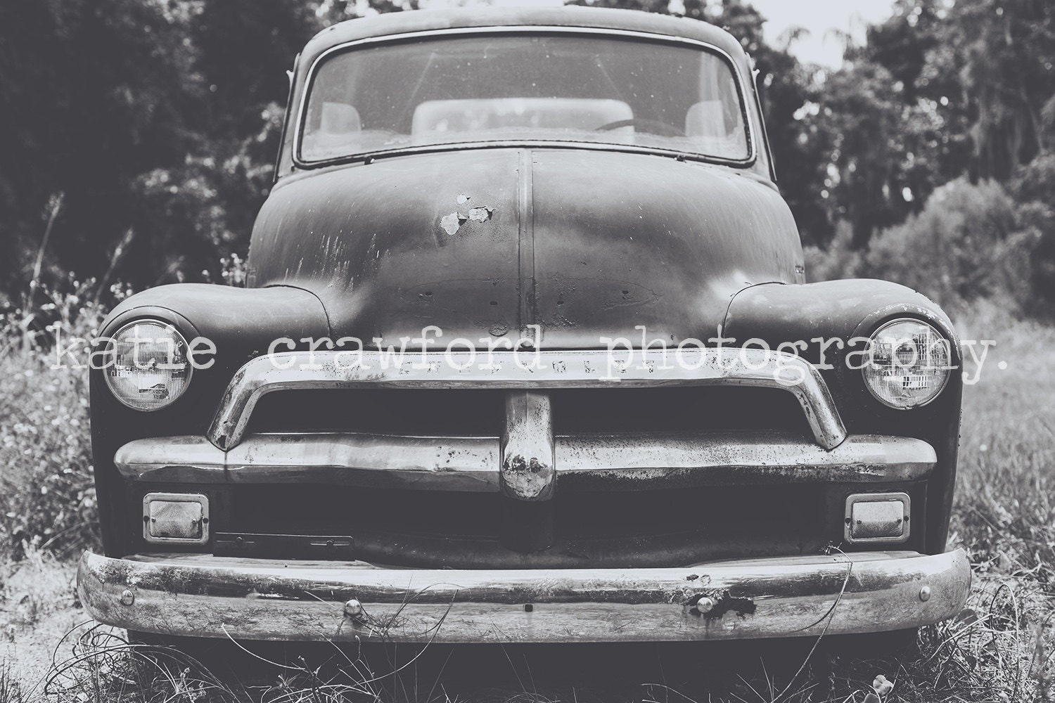 winter garden florida old chevrolet pickup truck in field at