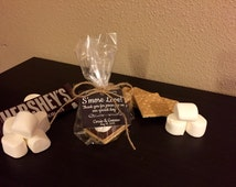 S'more Wedding Favor with Bag, Twine and Hanging Tag - Personalized Favor Gift Kit (Item Number WFSK0110001)