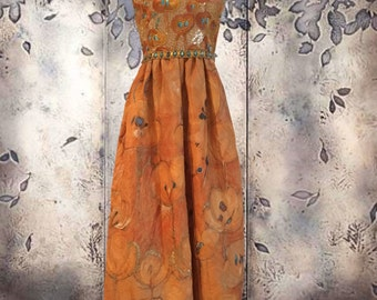 Mary McFadden Vintage Couture Gown for Saks Fifth Avenue