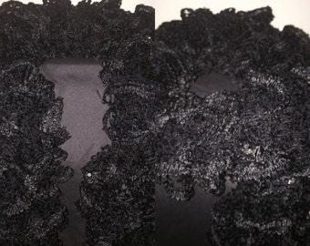 Noir Ruffle Scarf