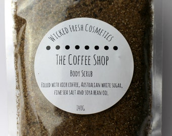 Coffee Body Scrub 'The Coffee Shop' - Wicked Fresh Cosmetics