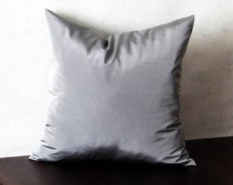 Gray Taffeta Decorative Throw Pillows/Throw Pillows/Bed Decorative Pillows/Bed Pillows/Couch Pillows/Target Pillows/size 18x18 inches