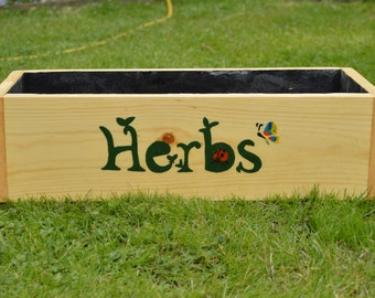 Handcrafted Garden Herb Boxes/Planters