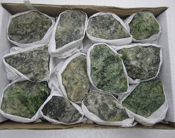 Bulk Green Diopside Specimens Brazil - 11-13 pcs. per lot