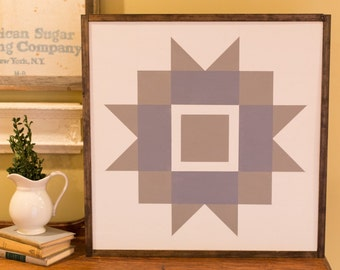 Maple Leaf Barn Quilt Block Wood Sign