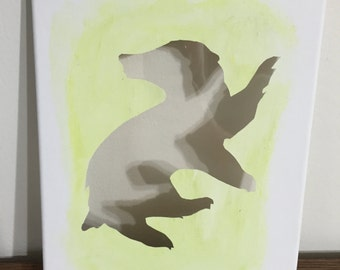 Harry Potter - Hufflepuff Badger Cut Canvas