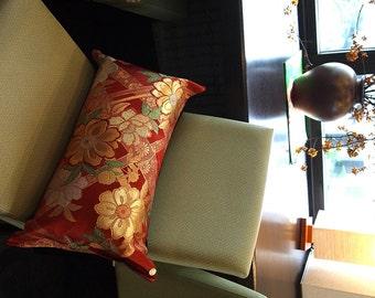 Cushion of Obi (Kimono) Japanese Silk  0000057
