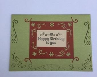 Custom Happy Birthday card