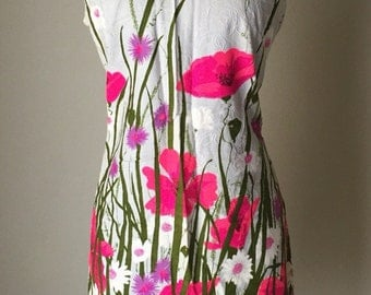 Gorgeous 60s bright floral print dress by Beeline Fashions