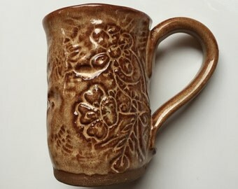 In Full Bloom : Hand Built Mug