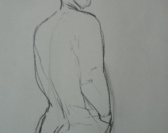 A sketch life drawing, figurative, lines, man, drawing, pencil