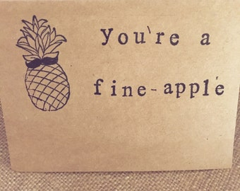 Pineapple card, funny birthday card, friendship card, funny husband card, Sarcastic Cards, snarky cards, best friend card, boyfriend card