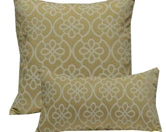 Decorative Pillow Cover Medallion Tan