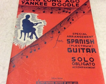 Yankee Doddle and Long Long Ago sheet music.1935 free ship.