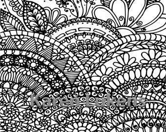Where Mandalas Grow, 1 Adult Coloring Book Page, Printable Instant Download