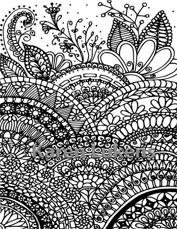 Where Mandalas Grow 1 Adult Coloring Book Page Printable