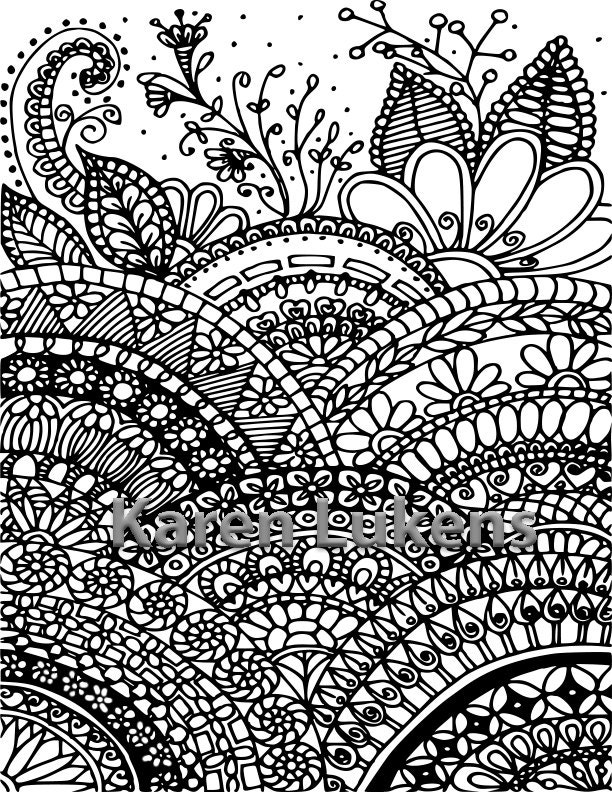 full page mandala coloring pages - photo #1