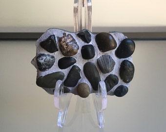Mosaic Stone Magnet