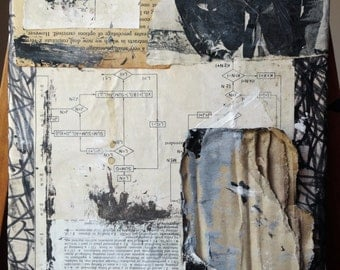 Mixed Media painted collage