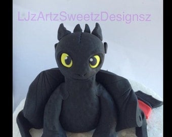 3D Dragon Cake Topper Toothless Spryro x 1 Any Character Dragon