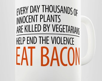 Eat Bacon Ceramic Tea Mug