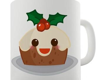 Christmas Pudding Ceramic Tea Mug