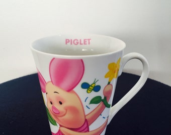 Disney Winnie the pooh and piglet coffee mug retro