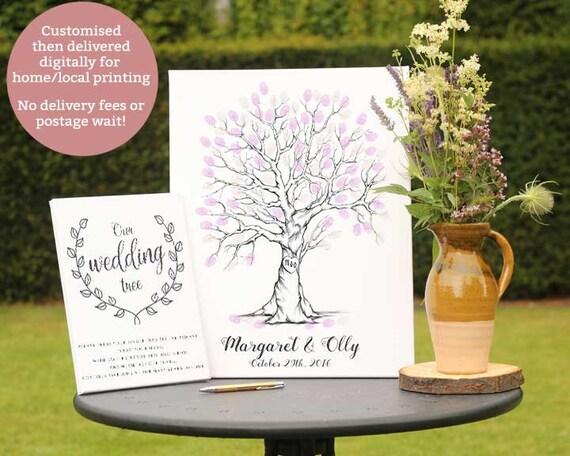 fingerprint tree wedding tree finger print tree thumbprint tree