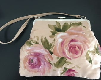 Dolce Gabbanna Silk Painted Hand Bag